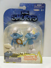 Jakks Pacific 2011 The Smurfs movie Grab Ems 2 Pack Vanity and Grouchy MOC