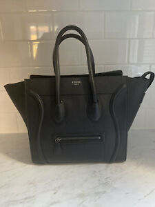 Celine Minnie Luggage Tote (black)