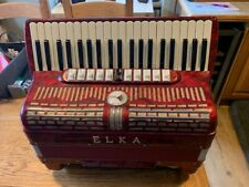 S/hand Elka 120 Bass Accordion - Model 412 in  Red