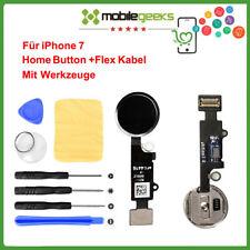 Für Original iPhone 7 7G Home Button Flexkable Finger Abdruck Knopf Schwarz NEU