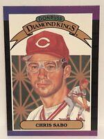 1989 Donruss Chris Sabo Baseball Card Cincinnati Reds #4 Diamond Kings Art Mint