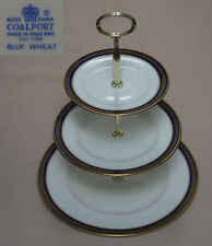 "Coalport ""Blue Wheat"" THREE TIER CAKE STAND"