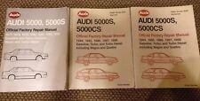 New listing Lot Of (X3) Audi 5000 5000S 5000Cs Official Factory Repair Manuals Books 1977-88