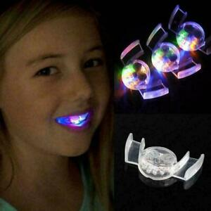 Flashing LED Mouth Piece Glow Teeth Light up For Halloween Party Rave Even Hot !