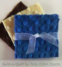 """12 ~ 4"""" Shannon Minky Plush Raised Dot Precut Fabric Squares (Lot# 39)"""