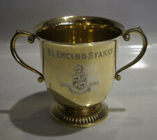 TIFFANY & CO. T&CO. MAKERS STERLING SILVER GOLD WASH TROPHY SANTA ANITA STAKES