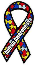 "Autism Awareness AA ribbon sticker decal 3"" x 6"""