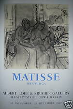 Matisse Henri Affiche Lithographie Mourlot 1967 New-York Drawings Vence art