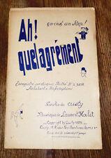 ah ! quel agrément one-step orchestre musette piano conducteur 1929 L. Halet