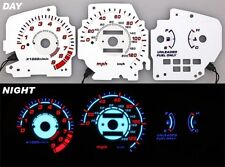 92-95 Civic EX SI EL Glow Gauge Reverse White Face MT 93-94 Night Glow
