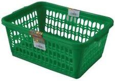 Wham Green Set of 2 Large Plastic Handy Fruit Vegetable Basket Kitchen Offic