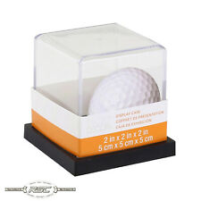 Golf Ball Display Case - Clear Plastic w/Black Plastic Base by Studio Decor