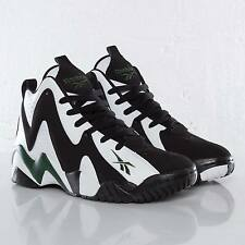 New REEBOK KAMIKAZE 2 Green Super Sonics SHAWN KEMP NBA Retro Mens Sneakers Sz 9