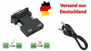HDMI  zu auf VGA mit Audio Output Cable Converter Adapter 1080P