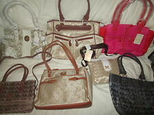 WHOLESALE LOT OF Designer (M) PURSES  6 PCS. TOTAL  BRAND NEW   G98