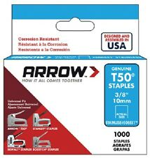 "Arrow T50, 3/8"", Stainless Steel, Staples"