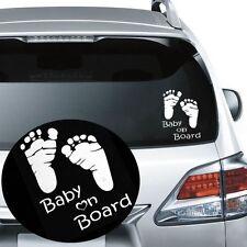 Baby On Board Feet Foot Prints Car Window Sticker Decal Graphic Vinyl Bumper New