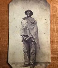 African American Contraband Escaped Slave  Prisoner RP tintype C1192RP