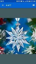 2011 Swarovski~ Snowflake STAR Annual Christmas  brand new  ~20th Anniversary
