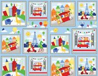 """Big City Friends Wilmington Prints 100% cotton Fabric by the panel 42"""" X 23"""""""