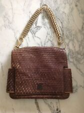 Rare Givenchy Ombré Embossed Rose Leather Gold Chain Hardware Bag 70's Style