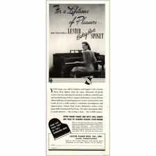 1965 PAPER AD Lamp Lighting Torchier Piano Spinet Clef Koolite Pole Brass Roma
