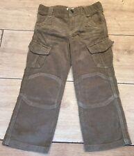 La redoute OKAOU boys dark BEIGE corduroy trendy trousers UK 12 18 mth EU 86 NEW