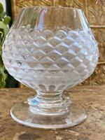 "Rare Lalique France Frosted Clear Crystal Rose Petals  7"" Vase  Perfection"