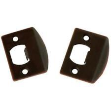 2-Pack Hickory First Watch #1063 Full Lip Steel Door Strikes, Vintage Bronze