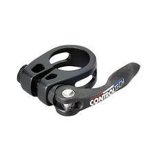 Controltech Carbon QR Bike Bicycle Cycling Seat Seatpost Clamp - 34.9mm - Black