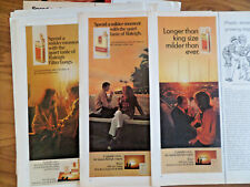 1966 1967 1970 1971 Raleigh Cigarettes Ad  Couples Lot of 12 Different Ads