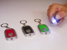 10x  Taschenlampe LED Schlüsselanhänger Vorm  6cm bunt sortiert Mitgebsel