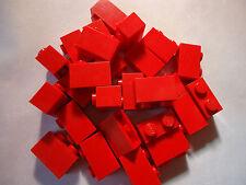 LEGO 1 x 2 RED BRICKS x 25 PART 3004