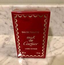MUST DE CARTIER LIGNE VOYAGE 1 oz Eau De Toilette SPLASH - New SEALED Box- RARE!