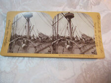 WRECKED BATTLESHIP OF THE USS MAINE  STEREOVIEW CARD ANTIQUE    T*
