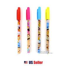 Disney Tsum Tsum 4-Color Gel Pen Set : Red Pink Blue Yellow