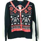 Disney Star Wars Medium Darth Vader Tie Fighter Ugly Christmas Holiday Sweater
