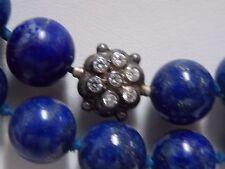 Anzie Boheme Lapis & CZ Dewdrop Cluster with Silver Necklace
