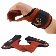 Weight Lifting Gloves With Wrist Straps Gym Workout Leather Men Heavy Duty Women