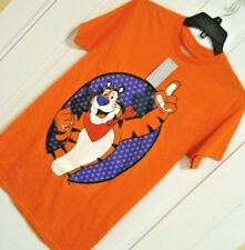 Mens TONY the TIGER FROSTED FLAKES t shirt tee size Small Orange 100% Cotton