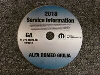 2018 Alfa Romeo Giulia Shop Service Repair Manual CD Ti Quadrifoglio 2.0L 2.9L