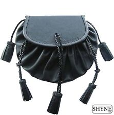 KILT escarcelle Highlander style Jacobite poche en cuir noir kiltwear pour Kilts