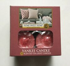 YANKEE CANDLE HOME SWEET HOME TEALIGHTS BOX OF 12 HTF  SCENT