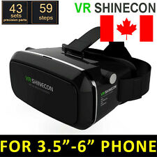 VR SHINECON Virtual Reality Headset 3D Glasses for iPhone Samsung HTC+Controller