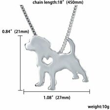 Lovely Pet Dog Pendant Silver Stainless Steel Necklace Chain Charm Jewelry Gifts