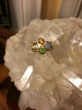NWOT Michou 3 Gemstone Ring Size 7.5 Sterling Silver & 22K Vermeil