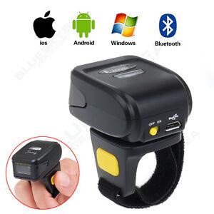 MJ-R30 742x480 CMOS Wireless Bluetooth 2D Barcode Finger Ring Scanner CCD Scan