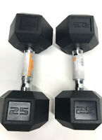 25 lb Dumbbells CAP Rubber Coated Hex Pair (50 Lbs Total) Fast ⚡️ Free Shipping