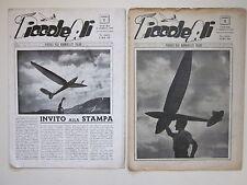 1946 PICCOLE ALI n° 1 e 2 aeromodellismo rivista d'epoca model aircraft