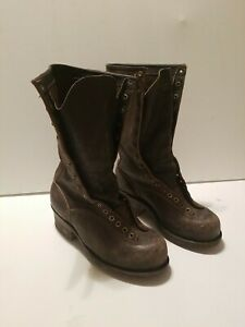 Rare Vintage Danner Logger Nailed Sole Corks Calks Boots  Workwear size 8.5 E